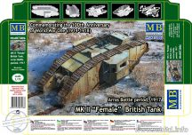 1/72 MK II FEMALE British Tank (Arras Battle,1917)