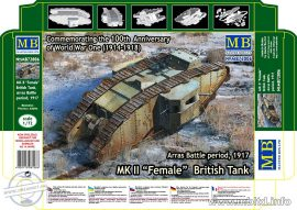 1/72 MK II FEMALE British Tank (Arras Battle,1917)