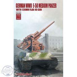 German WWII E-50 Medium Panzer With 128 mm Flak 40 Gun - 1/72
