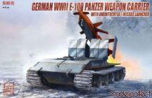 German WWII Waffentrager Auf E100 with Rheintochter R1 Missle