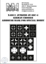 JUNKERS JU-88C-4 GERMAN CROSSES AIRBRUSH MASK - 1/48