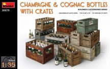 MiniArt - Champagne & Cognac Bottles w/Crates