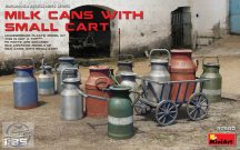 Miniart - Milk Cans with Small Cart