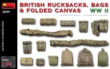 British Rucksacks Folded Canvas & Bags WWII