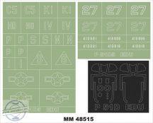 P-51D-5 MUSTANG - 1/48 - Eduard (2 canopy masks(outside & inside) + 2 insignia masks)