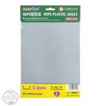 0,3 mm Plastic Sheet x 2 - (2 db sztirol lap)