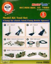 Model Kit Tool Set (Clamp for elastic band, Clamp, Bottle Opener)
