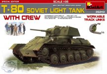 T-80 Soviet Light Tank with Crew Special Edition - 5 figures and tank