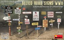 ALLIED ROAD SIGNS WWII. EUROPEAN THEATRE OF OPERATIONS - 1/35