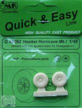 Hawker Hurricane Mk.I wheels  5 spoked discs