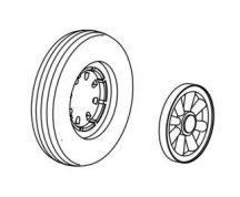 F6F Hellcat wheels 8spok.disc,4 channel design