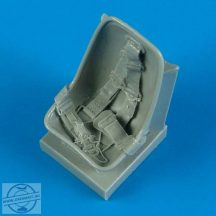 Bf 109E seat with safety belts - 1/32