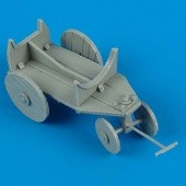 German WWII support cart for external fuel tank.