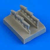 Defiant Mk.I exhaust - rounded - Airfix