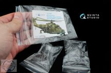 Mi-24/35 all bubble-version vacuformed clear canopy (for Zvezda kit) - 1/72