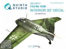 Me 163B 3D-Printed & coloured Interior on decal paper (for Meng kit) - 1/32