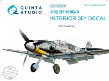 Bf 109G-6 3D-Printed & coloured Interior on decal paper (for Revell kit) - 1/32