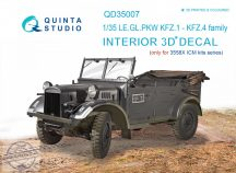 KFZ 1-4 3D-Printed & coloured Interior on decal paper (for ICM kits) - 1/35