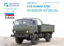 KAMAZ 4350 Mustang Family 3D-Printed & coloured Interior on decal paper (for Zvezda kits) - 1/35