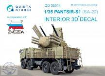Pantsir-S1 (SA-22 Greyhound) 3D-Printed & coloured Interior on decal paper (for Zvezda kit) - 1/35