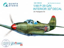 P-39Q/N  3D-Printed & coloured Interior on decal paper (for Hasegawa kit) - 1/48