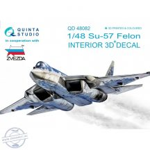 Su-57 3D-Printed & coloured Interior on decal paper (for Zvezda  kit) - 1/48