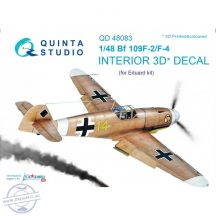 Bf 109F-2/F-4 3D-Printed & coloured Interior on decal paper (for Eduard kit) - 1/48