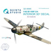 Bf 109F-2/F-4 3D-Printed & coloured Interior on decal paper (for Zvezda kit) - 1/48
