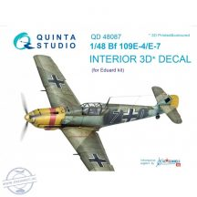 Bf 109E-4/E-7 3D-Printed & coloured Interior on decal paper (for Eduard  kit) - 1/48