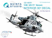 UH-1Y Venom 3D-Printed & coloured Interior on decal paper (for Kitty Hawk  kit) - 1/48