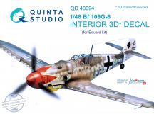 Bf 109G-6 3D-Printed & coloured Interior on decal paper (for Eduard  kit) - 1/48