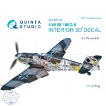 Bf 109G-6 3D-Printed & coloured Interior on decal paper (for Tamiya  kit) - 1/48