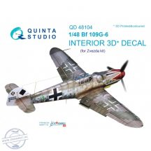 Bf 109G-6 3D-Printed & coloured Interior on decal paper (for Zvezda  kit) - 1/48