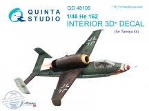 He-162 3D-Printed & coloured Interior on decal paper (for Tamiya  kit) - 1/48