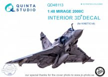 Mirage 2000C 3D-Printed & coloured Interior on decal paper (for Kinetic  kit) - 1/48