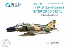 F-4D early 3D-Printed & coloured Interior on decal paper (for ZM SWS kit) - 1/48