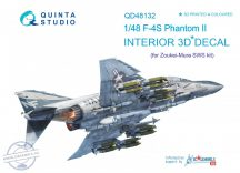 F-4S 3D-Printed & coloured Interior on decal paper (for ZM SWS kit) - 1/48