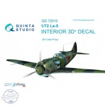 La-5  3D-Printed & coloured Interior on decal paper  (for ClearProp kit) - 1/72
