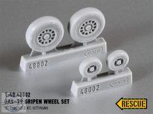 Jas-39 Gripen Wheel Set maszkoló fóliával - 1/48