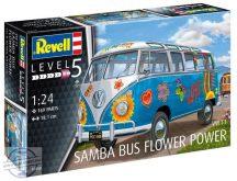VW T1 Samba Bus Flower Power - 1/24