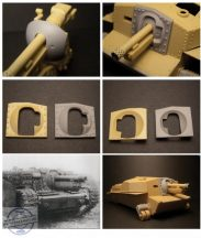40/43M Zrínyi assault gun mantlet for Bronco kit - 1/35
