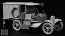 Ford Model T Ambulance update set for ICM kit - 1/35