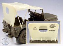 Willys Jeep ponyva k.+m.f. -1/35
