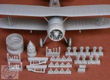 Gloster Gladiator engine & cowling set - 1/48 - Merit