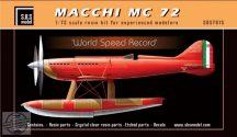 Macchi MC 72 'World Speed Record' full kit - 1/72
