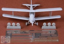De Havilland Tiger Moth rigging set & wheels - 1/72 - Airfix