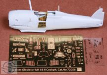 Gloster Gladiator Mk.I/Mk.II cockpit set for Airfix kit - 1/72