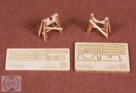 Piaggio PC-7 wooden trestle for SBS Model kit - 1/72