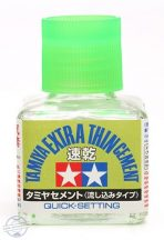 Extra Thin Cement Quick-Set  (Tamiya ragasztó)