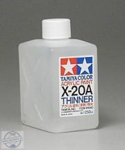Tamiya 81040 Acrylic Thinners 250 ml. (Higító)